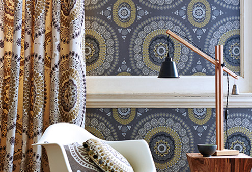 maison-interiors-blue-harlequin-wallpaper