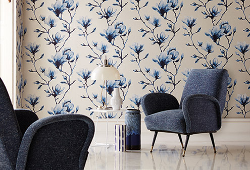 maison-interiors-flower-blue-momentum-wallpaper