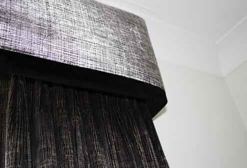 Custom Made Curtains and Pelmet