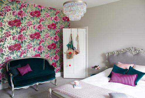 Floral Bedroom Interior Design