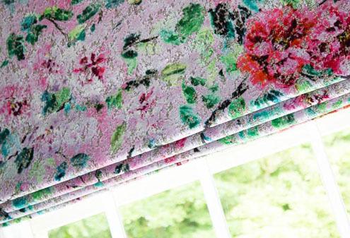 Custom Made Floral Blinds